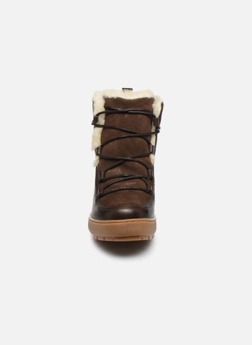 Bottines et boots Aigle Laponwarm Marron vue portées chaussures
