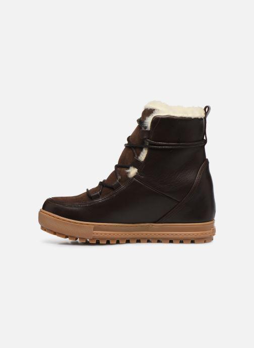 Bottines et boots Aigle Laponwarm Marron vue face