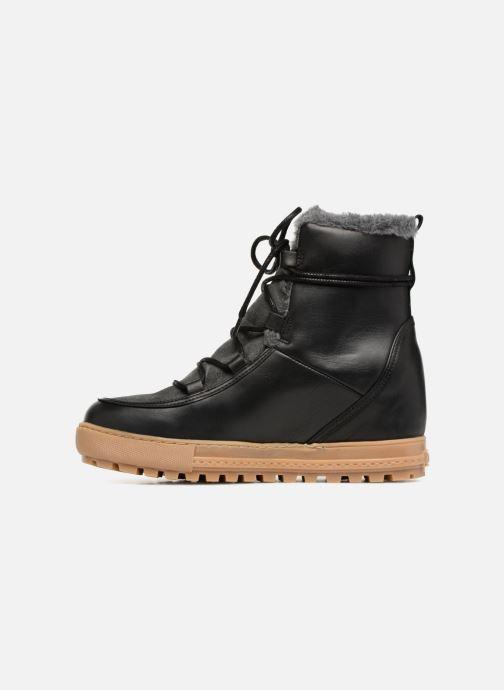 Boots en enkellaarsjes Aigle Laponwarm Zwart voorkant