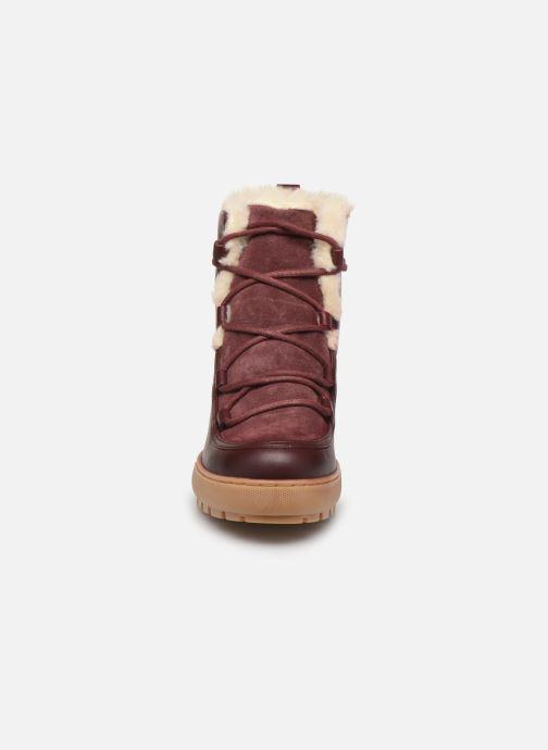 Bottines et boots Aigle Laponwarm Bordeaux vue portées chaussures