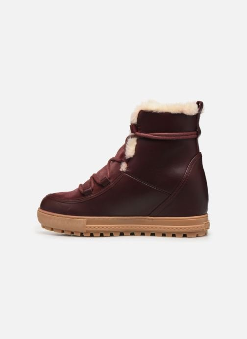 Ankle boots Aigle Laponwarm Burgundy front view
