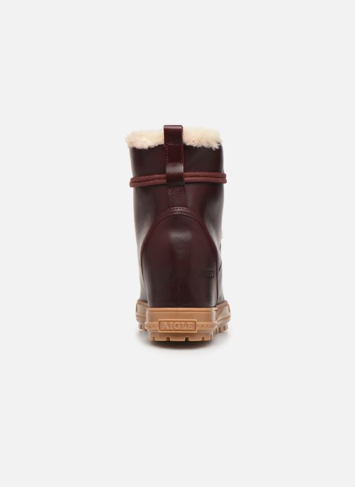 Ankle boots Aigle Laponwarm Burgundy view from the right
