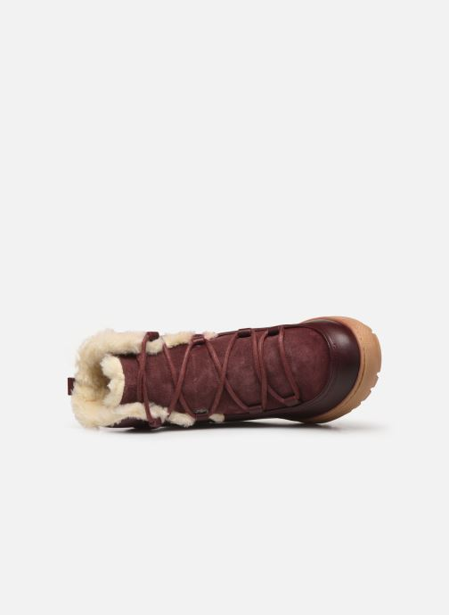 Ankle boots Aigle Laponwarm Burgundy view from the left