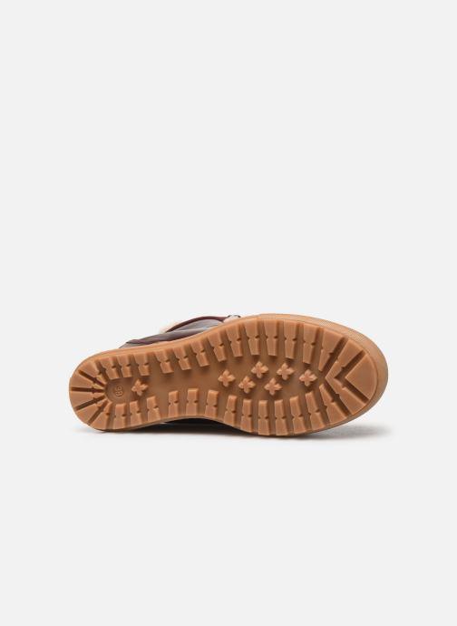 Bottines et boots Aigle Laponwarm Bordeaux vue haut