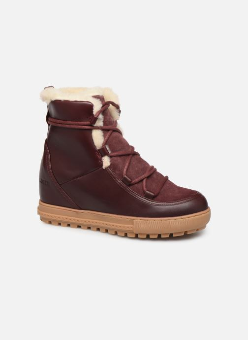 Ankle boots Aigle Laponwarm Burgundy detailed view/ Pair view