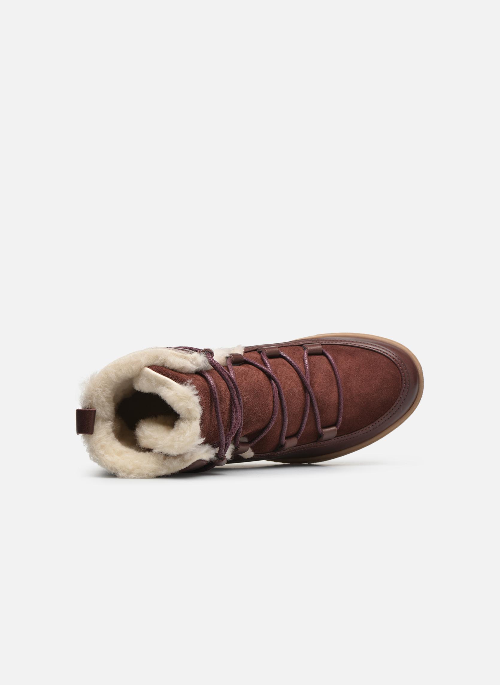 Bottines et boots Aigle Laponwarm Bordeaux vue gauche