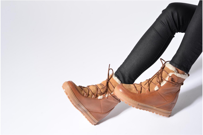 Bottines et boots Aigle Laponwarm Marron vue bas / vue portée sac