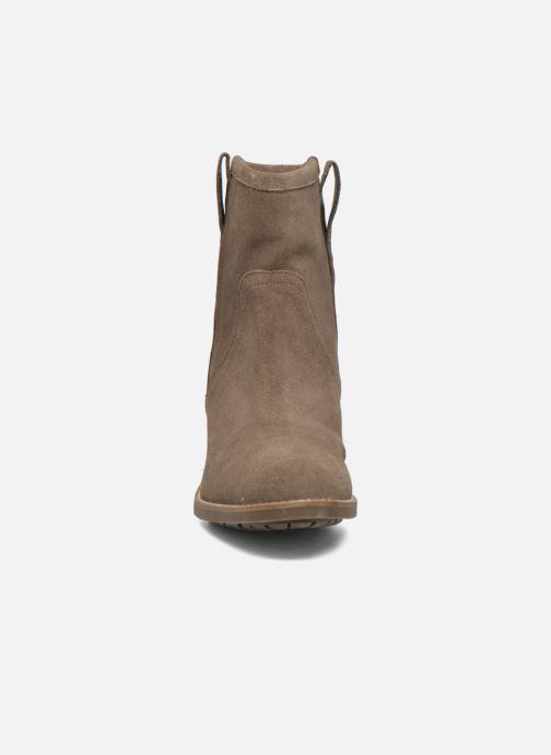 Bottines et boots Aigle Chanteside Low Marron vue portées chaussures
