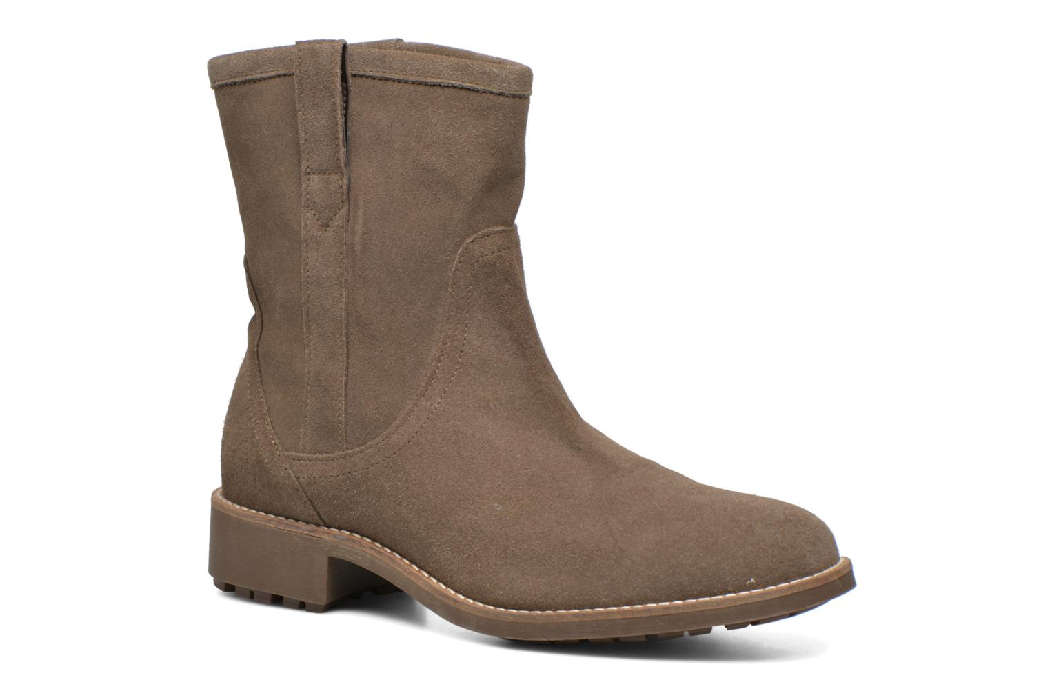 Ankle boots Aigle Chanteside Low Brown detailed view/ Pair view