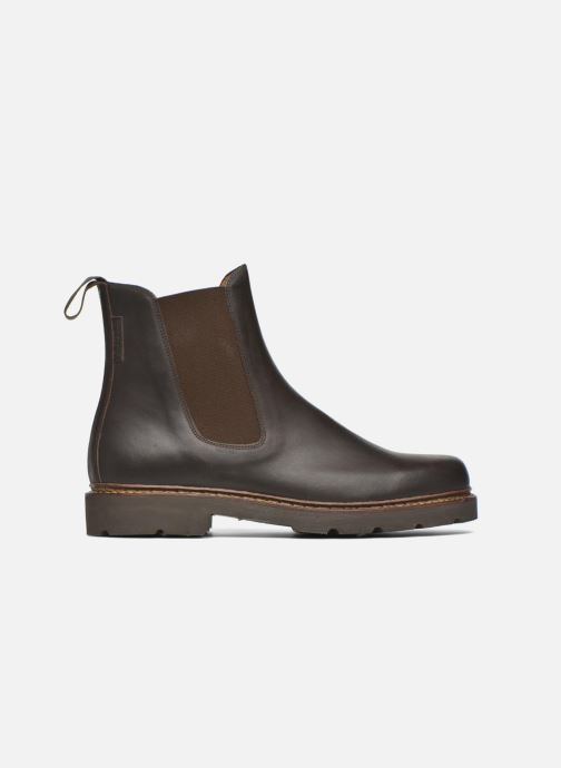 Ankle boots Aigle Quercy Brown back view