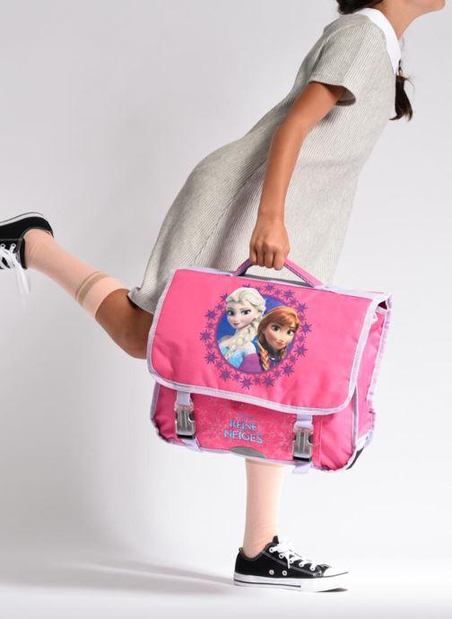 Schulzubehör Disney Cartable 38cm Reine des neiges 2 rosa ansicht von unten / tasche getragen
