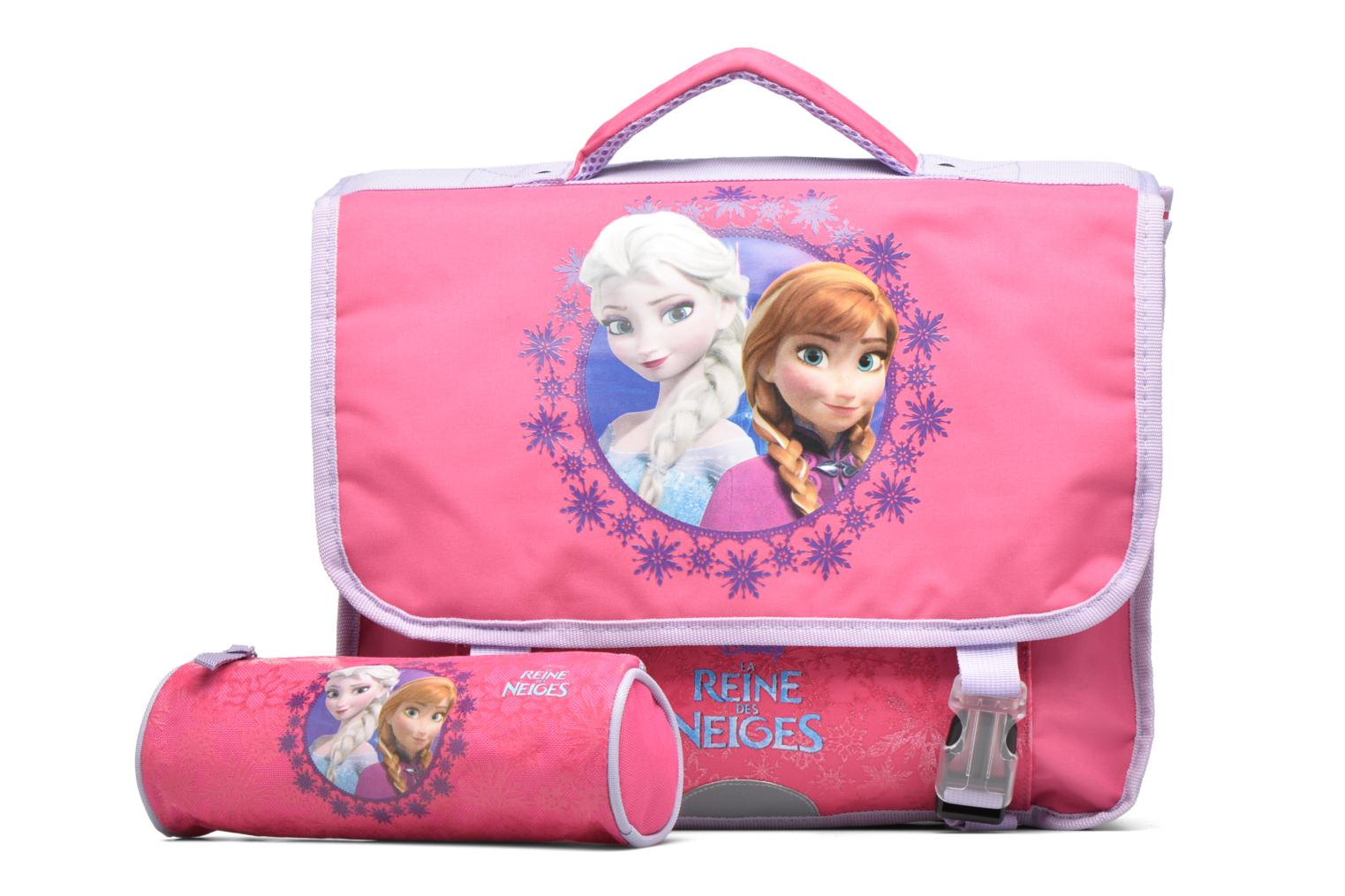 School bags Disney Cartable 38cm Reine des neiges 2 Pink view from the left