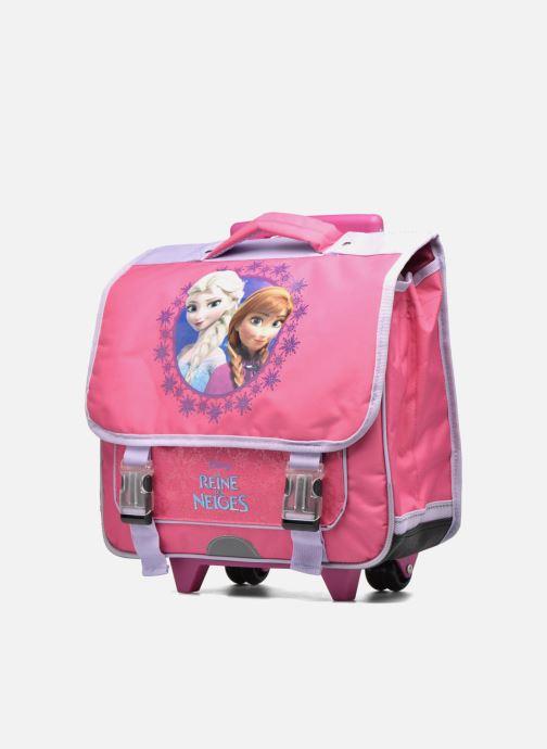 Schooltassen Disney Cartable 38cm Trolley Reine des neiges - Roze model