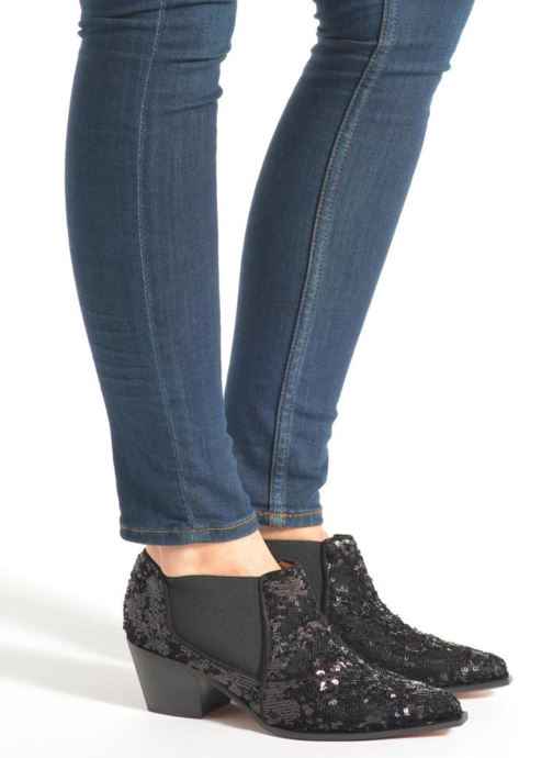Ankle boots Sonia Rykiel Olé Black view from underneath / model view