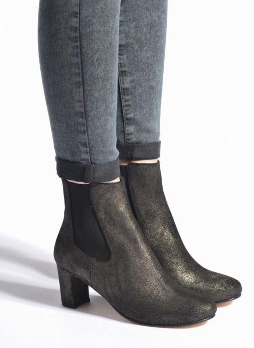 Bottines et boots Bensimon Boots talon élastique Argent vue bas / vue portée sac