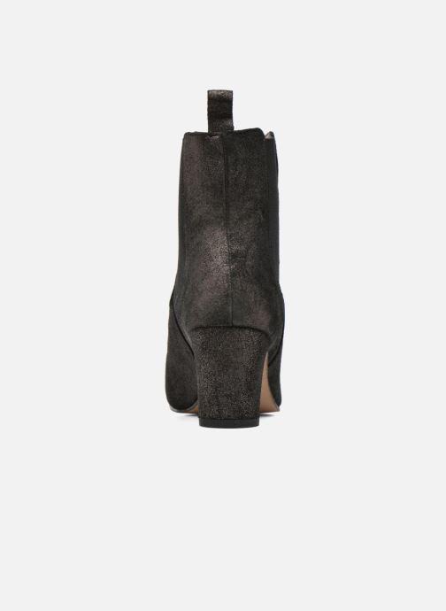 Botines  Bensimon Boots talon élastique Plateado vista lateral derecha
