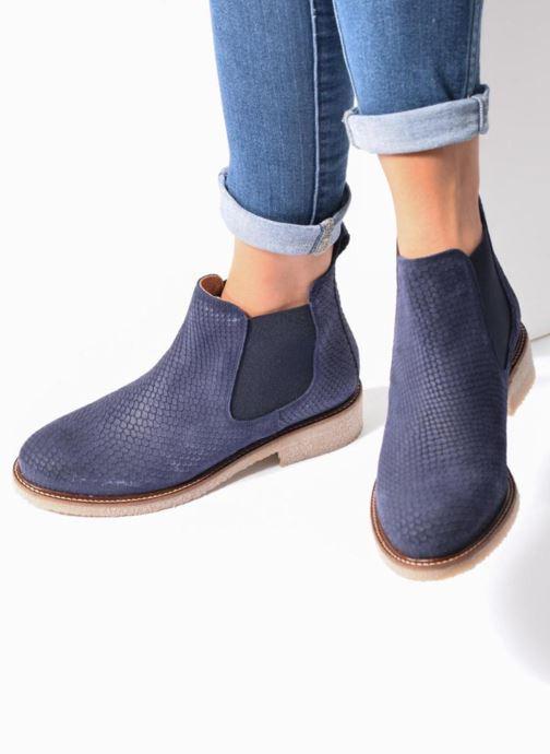 Bottines et boots Bensimon Boots semelle crepe Or et bronze vue bas / vue portée sac