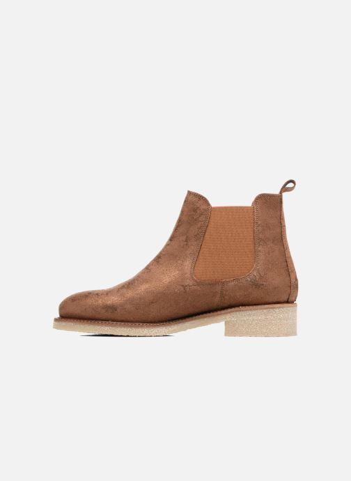 Bottines et boots Bensimon Boots semelle crepe Or et bronze vue face