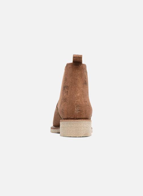Bottines et boots Bensimon Boots semelle crepe Or et bronze vue droite