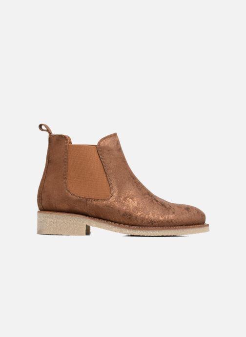 Bottines et boots Bensimon Boots semelle crepe Or et bronze vue derrière