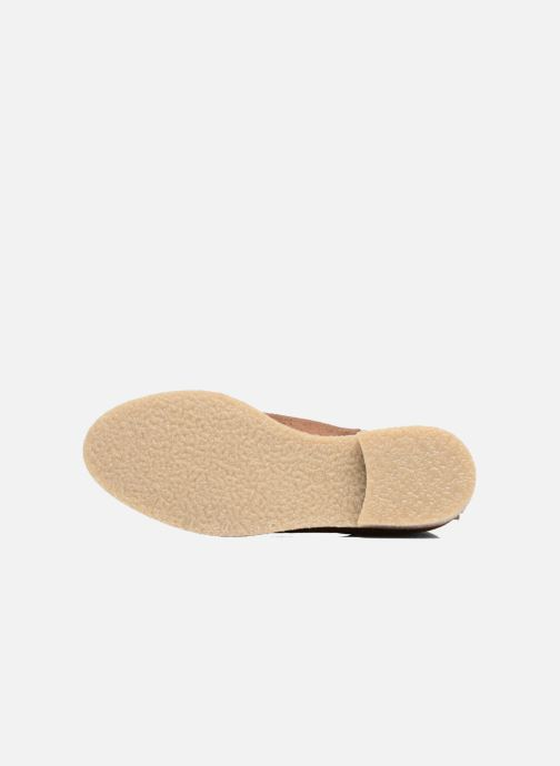 Bottines et boots Bensimon Boots semelle crepe Or et bronze vue haut