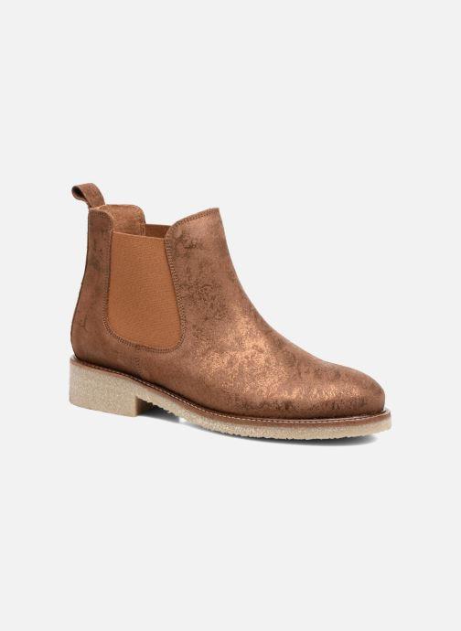 Bottines et boots Bensimon Boots semelle crepe Or et bronze vue détail/paire