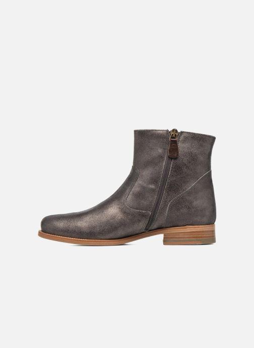 Boots en enkellaarsjes Bensimon Boots croute velours plate Grijs voorkant