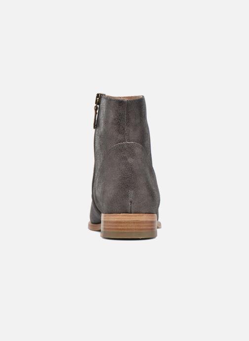 Boots en enkellaarsjes Bensimon Boots croute velours plate Grijs rechts