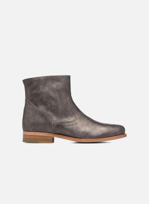 Boots en enkellaarsjes Bensimon Boots croute velours plate Grijs achterkant