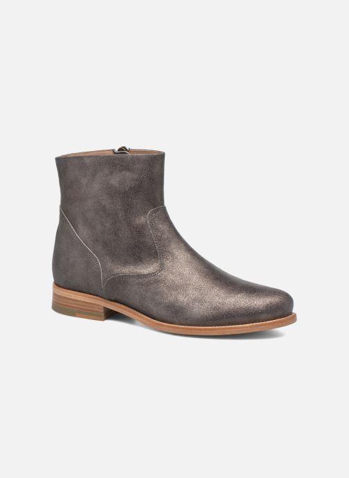 Boots en enkellaarsjes Bensimon Boots croute velours plate Grijs detail