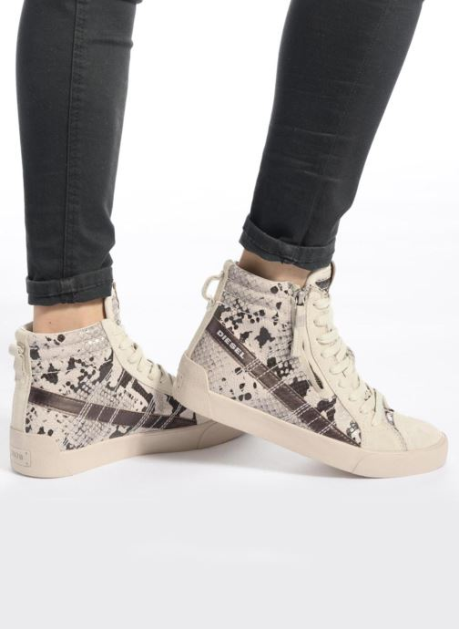 Sneakers Diesel D-String Plus W Argento immagine dal basso
