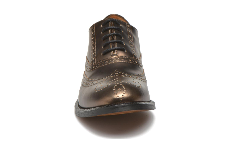 Zapatos con cordones Heyraud Dehbia Oro y bronce vista del modelo