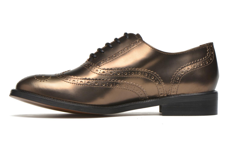 Zapatos con cordones Heyraud Dehbia Oro y bronce vista de frente