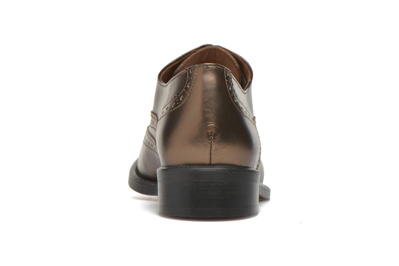 Zapatos con cordones Heyraud Dehbia Oro y bronce vista lateral derecha