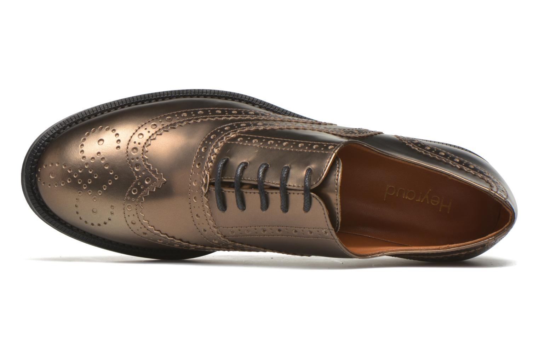 Zapatos con cordones Heyraud Dehbia Oro y bronce vista lateral izquierda