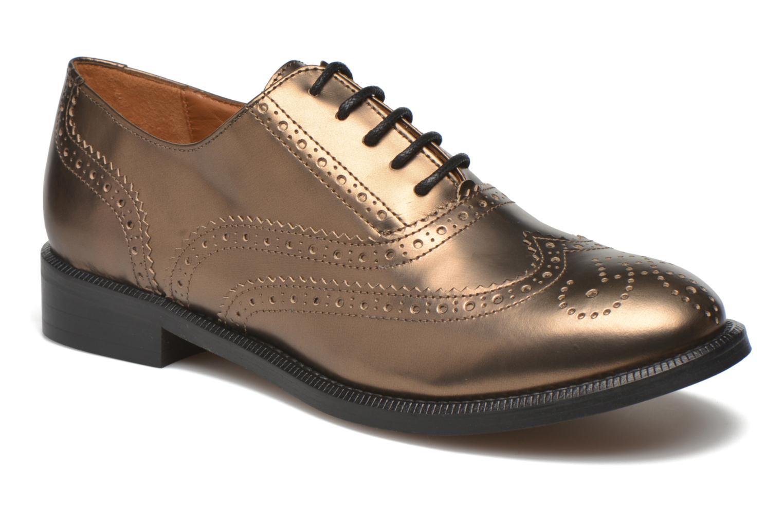 Zapatos con cordones Heyraud Dehbia Oro y bronce vista de detalle / par
