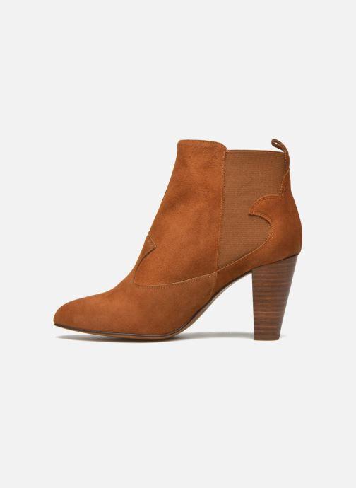 Bottines et boots Heyraud Daisy Marron vue face