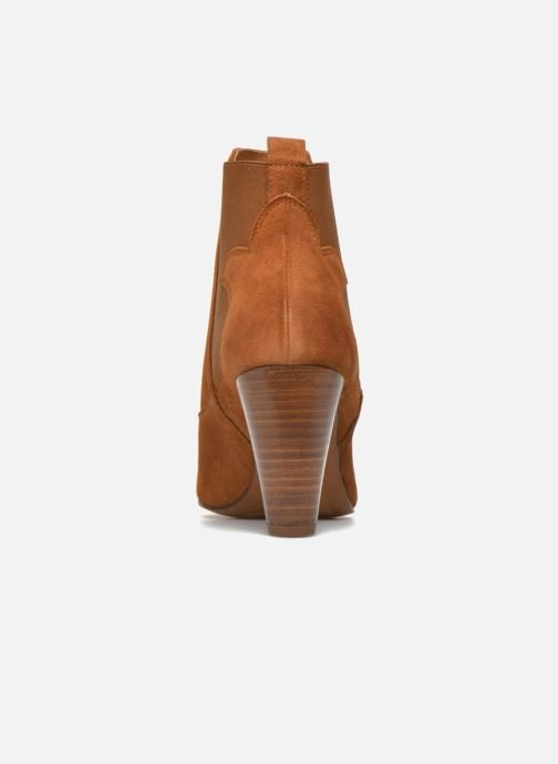 Ankle boots Heyraud Daisy Brown view from the right