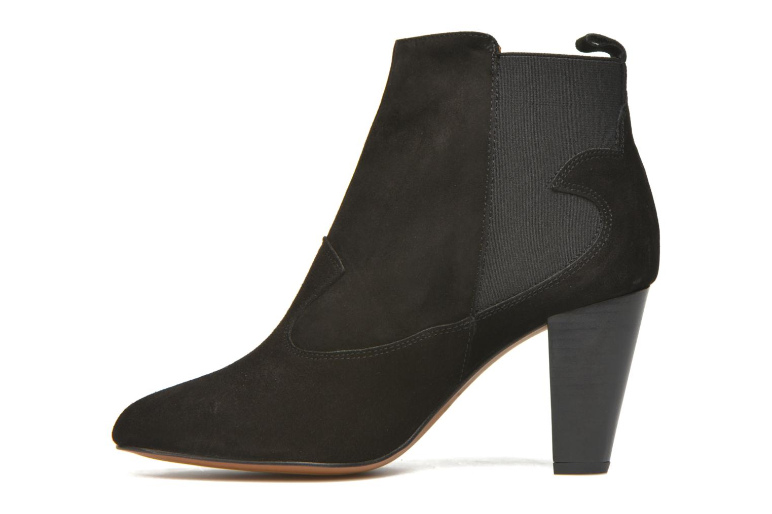 Ankle boots Heyraud Daisy Black front view