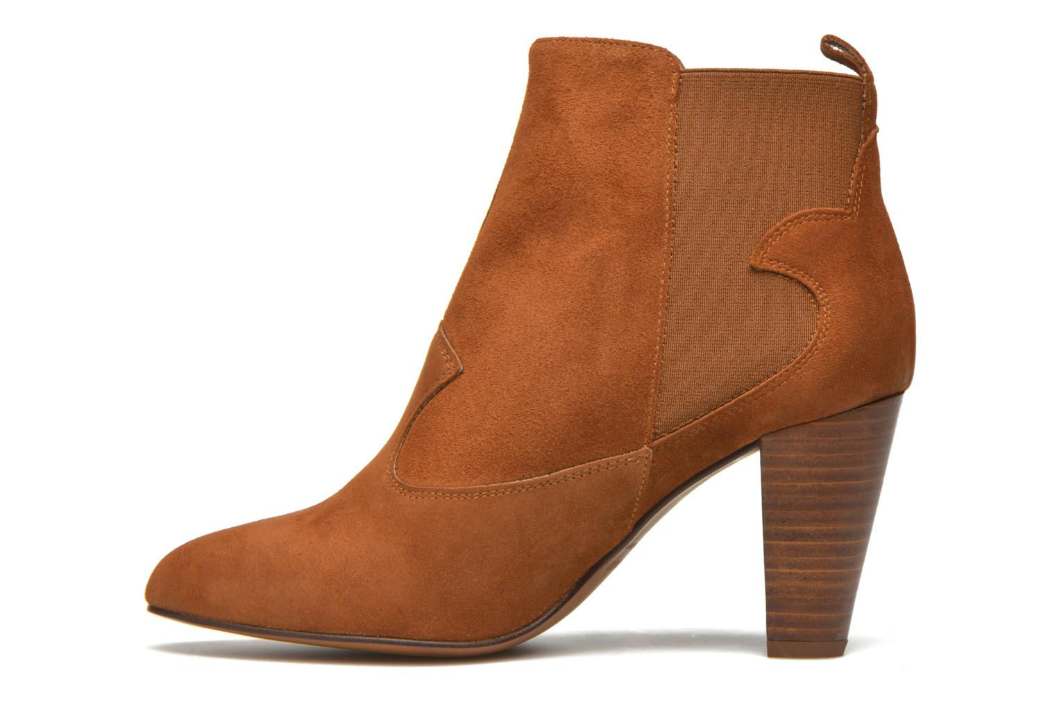 Ankle boots Heyraud Daisy Brown front view