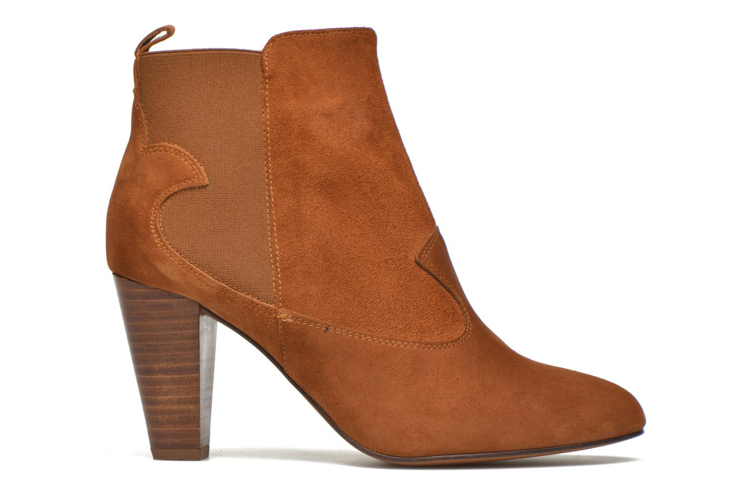 Ankle boots Heyraud Daisy Brown back view