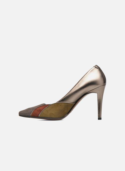 Zapatos de tacón Heyraud Dona Oro y bronce vista de frente
