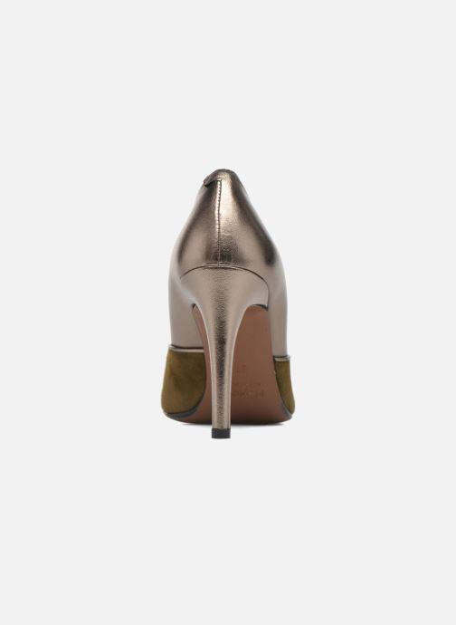 Zapatos de tacón Heyraud Dona Oro y bronce vista lateral derecha