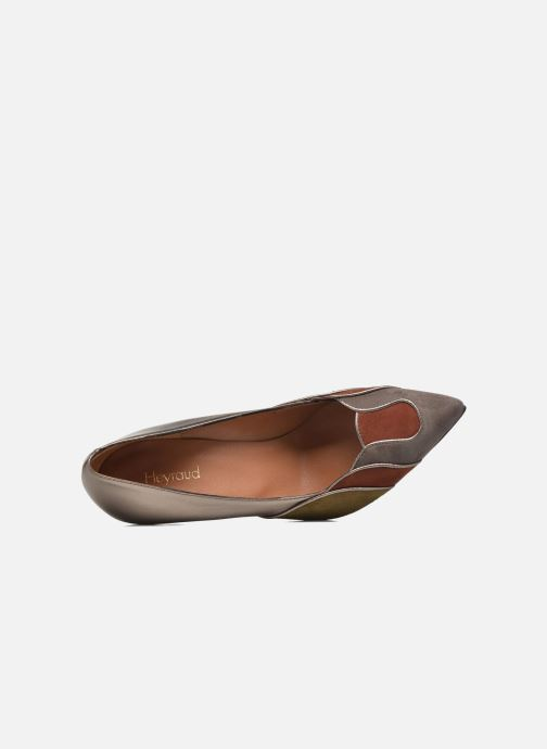Zapatos de tacón Heyraud Dona Oro y bronce vista lateral izquierda