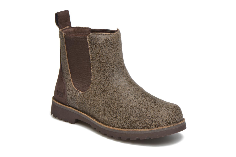 Bottines et boots UGG Callum Bomber K Marron vue détail/paire
