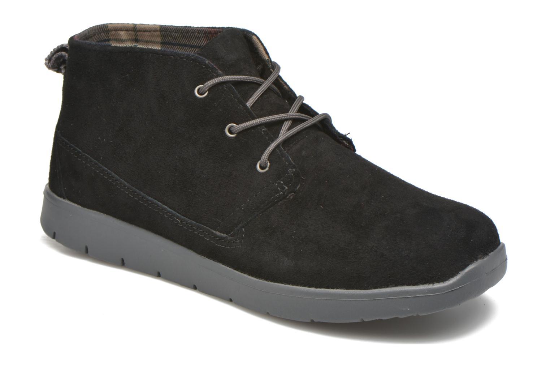 Chaussures à lacets UGG Canoe Suede Noir vue détail/paire