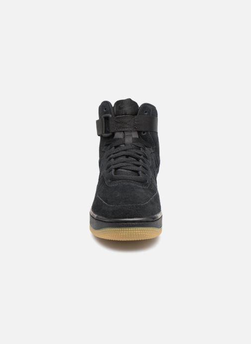 Sneaker Nike Air Force 1 High Lv8 (Gs) schwarz schuhe getragen