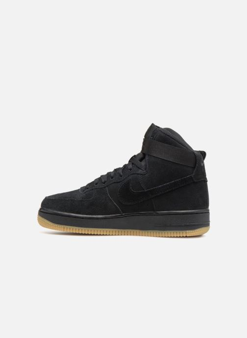 Sneaker Nike Air Force 1 High Lv8 (Gs) schwarz ansicht von vorne