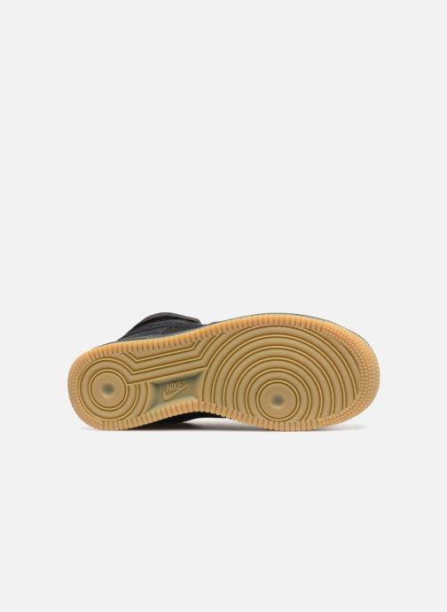 Sneaker Nike Air Force 1 High Lv8 (Gs) schwarz ansicht von oben