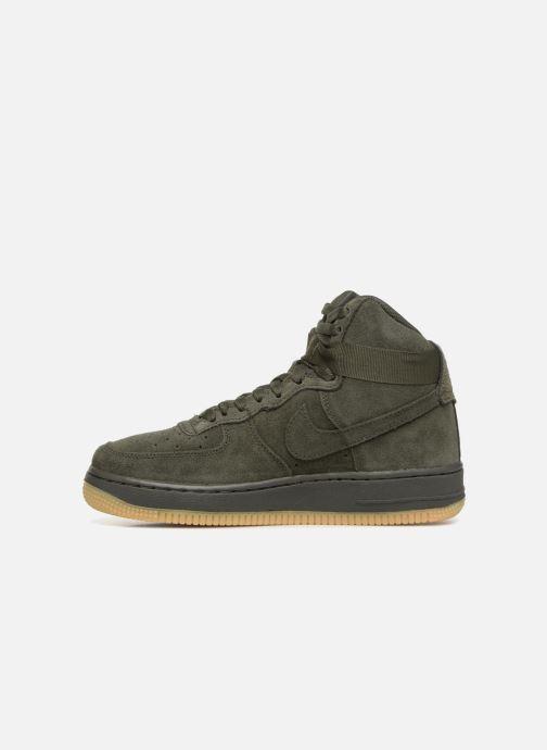 Sneaker Nike Air Force 1 High Lv8 (Gs) grün ansicht von vorne